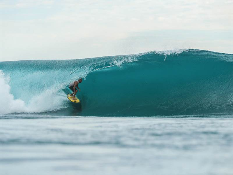 Often celebrated for its perfectly paced walls, Macaronis also has a mean tube section. Photo: Macaronis Resort